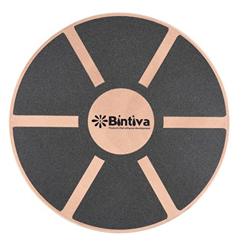 bintiva Wood Balance Board for Fitness Rehab Balance and Stability Training