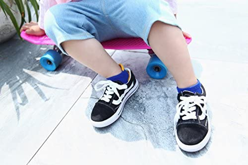 IMOZY Kids Athletic Sport Socks with Tab Short Socks Pack for Toddler Little and Big Kids Low Cut Ankle Socks
