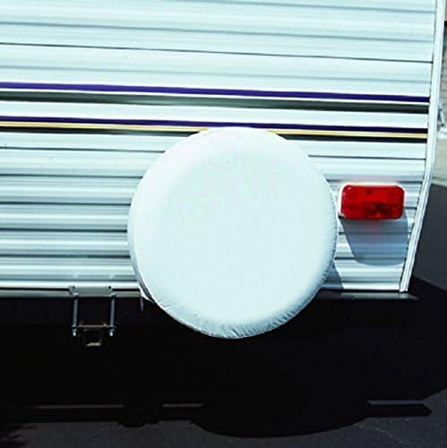 Fits 29 /¾ Diameter Wheel ADCO 1754 Polar White Vinyl Spare Tire Cover E