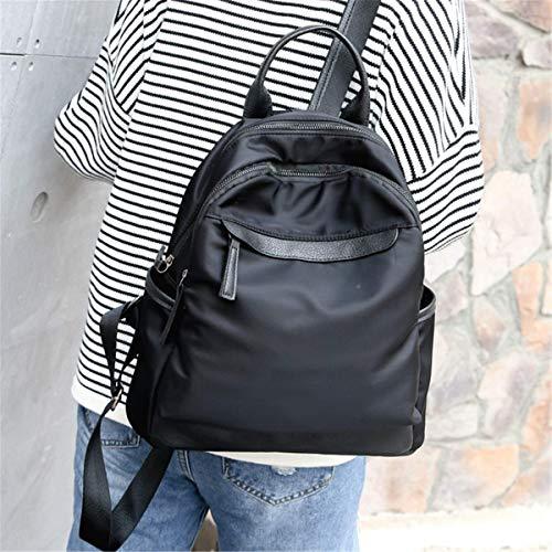 à en Grande Portable Casual Toile Porter Portefeuille Parapluie Nylon Main Noir pour Sac Vert BBSMYA Dos Capacité peut Noir Sac à Kaki école qwtT4T