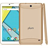 "Plum Tablet Phablet Smart Phone 4G GSM 7"" Display Unlocked Android 6.0 Dual Camera Quad Core GPS Dual Sim - Gold"