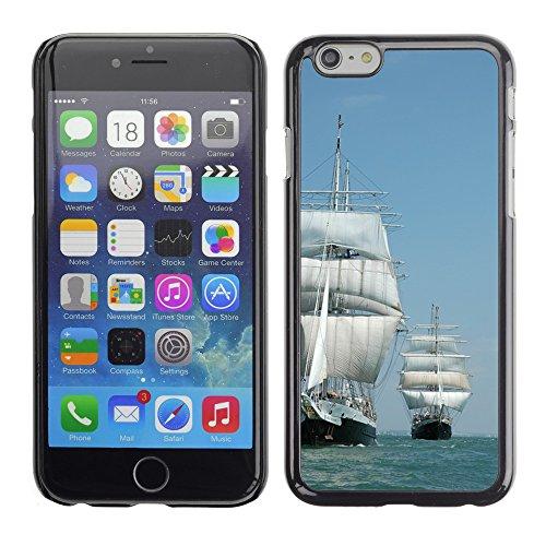 """Just Phone Cases Hard plastica indietro Case Custodie Cover pelle protettiva Per // M00421715 Navire Grand Voile Sea // Apple iPhone 6 6S 6G PLUS 5.5"""""""