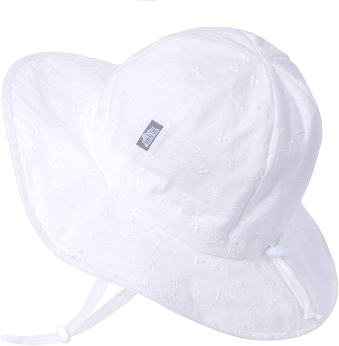 UPF 50 Jan /& Jul GRO-with-Me Cotton Floppy Adjustable Sun-Hat for Girls Breathable Cotton
