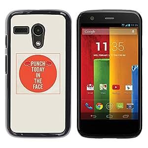 Paccase / SLIM PC / Aliminium Casa Carcasa Funda Case Cover para - Quote Orange Minimalist Beige - Motorola Moto G 1 1ST Gen I X1032