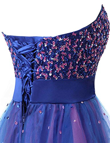 with Dresses Sleeve Belle Junior's Sd101 House Prom royal Homecoming Gowns Blue Tulle Short UYRSq
