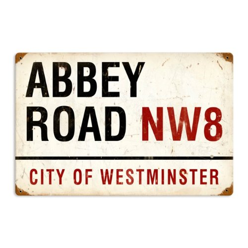 Abbey Road NW8 Street Westminster City Vintage Metal Sign 18 X 12 Steel Not Tin