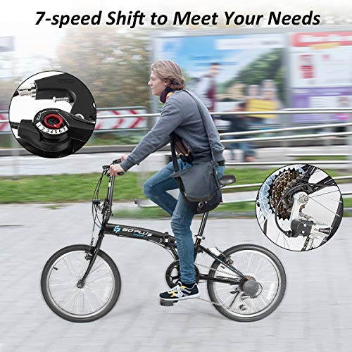 Amazon.com: Goplus 20 Folding Bike, 7 Speed Shimano Gears ...