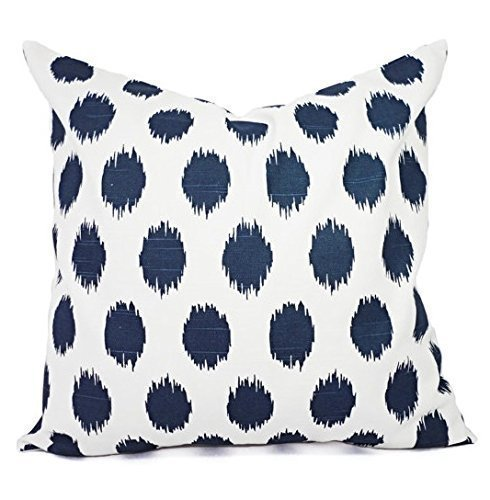 Amazoncom Blue Pillows Navy And White Polka Dot Pillow Cover