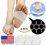#9: Metatarsal Pads, Ball of Foot Cushion (6 PCS) *NEW MATERIAL* Forefoot Pads, Breathable & Soft Gel, Best for Diabetic Feet, Callus, Blisters, Forefoot Pain. Can be sued for both feet For Men and Women.