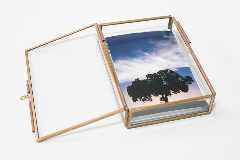 Amazon.com: La Rousse Glass Photo Box (Gold, 5x7): Home & Kitchen