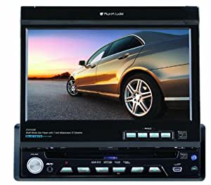 """Planet Audio PI9780B  Bluetooth Enabled, iPod Compatible, Single Din, In-Dash DVD Receiver With 7"""" Flip Out TFT Touchscreen Monitor"""