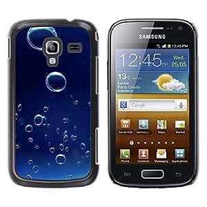 TopCaseStore / la caja del caucho duro de la cubierta de protección de la piel - Blue Water Drop 6 - Samsung Galaxy Ace 2 I8160 Ace II X S7560M