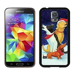 Customized Portfolio Christmas Dog Black Samsung Galaxy S5 Case 42