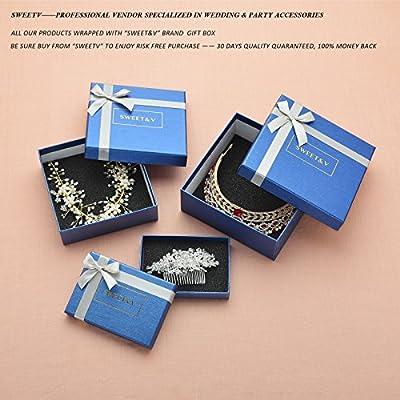 SWEETV Vintage Pearl Rhinestone Wedding Hair Comb Clip Bridal Side Comb Hair Accessories