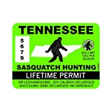 """RDW Tennessee Sasquatch Hunting Permit - Color Sticker - Decal - Die Cut - Size: 4.00"""" x 3.00"""""""