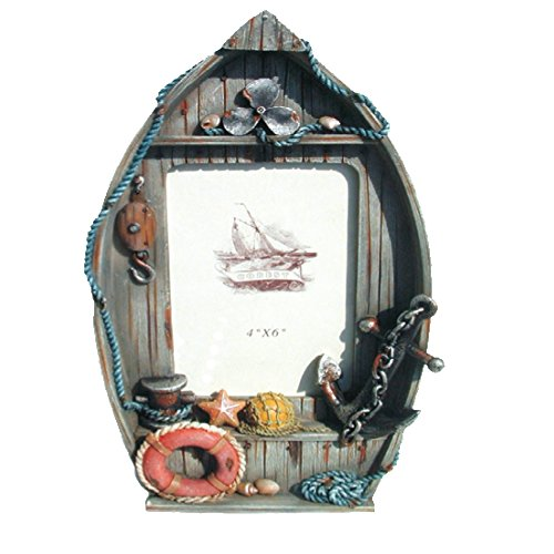 Rockin Gear Picture Frame Nautical Themed BOAT Photo Frames - Holds a 4