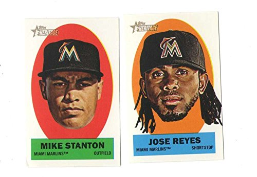 Ons Set (2012 Topps Heritage Stick-Ons - MIAMI MARLINS Team Set)