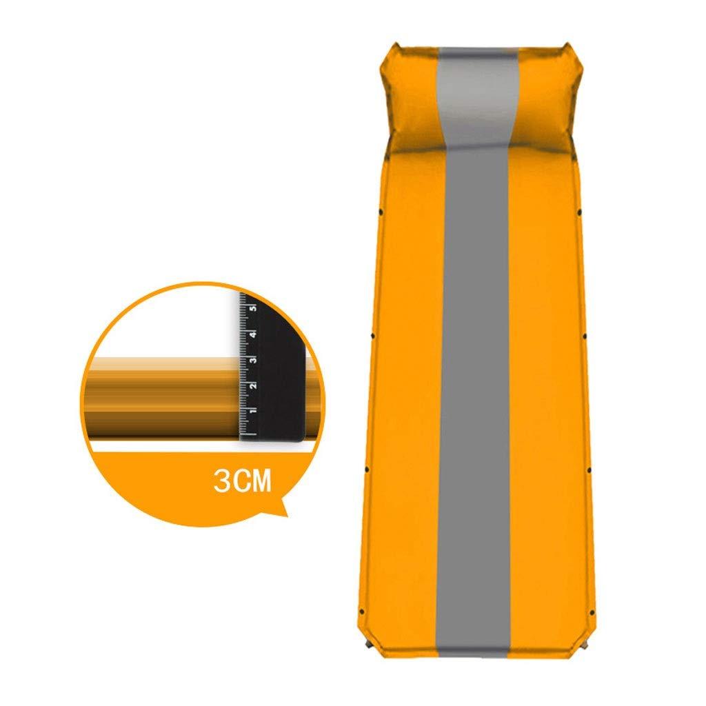 Orange Isomatte selbstaufblasend, ultraleichte Kissen, tragbares Luftmattenschaumbett zum Wandern Xuan - Worth Having (Farbe   Orange)