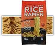 Lotus Foods Millet & Brown Rice Ramen With Miso Soup, Low Sodium, 2.8 Oz (Pack Of 10)