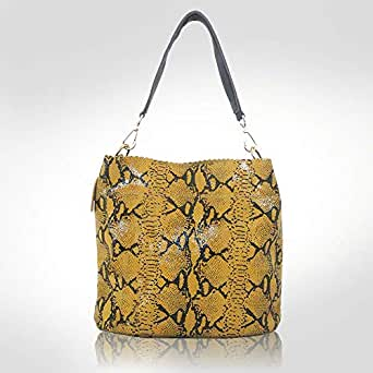 Dina Yellow Soft Leather Shoulder bag