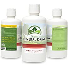 The BEST Plant Derived Major & Trace Minerals Supplement - 32 Flow Ounces of Plant Based Minerals - 100% Pure & Natural (Wildberry Pomegranate)