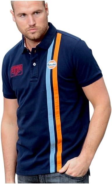Grandprix Originals Gulf Banda Polo Azul Marino XS: Amazon.es ...
