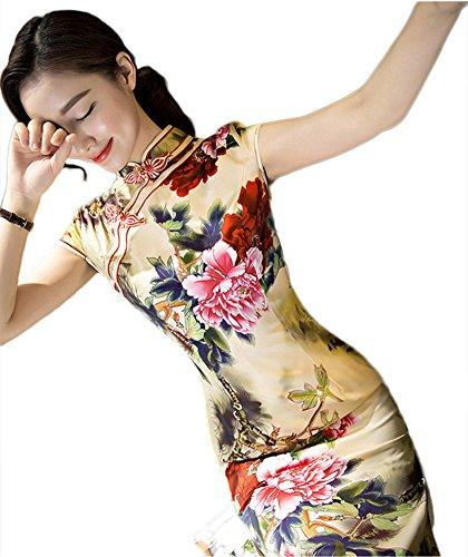 Silk Velvet Party Dress - 4