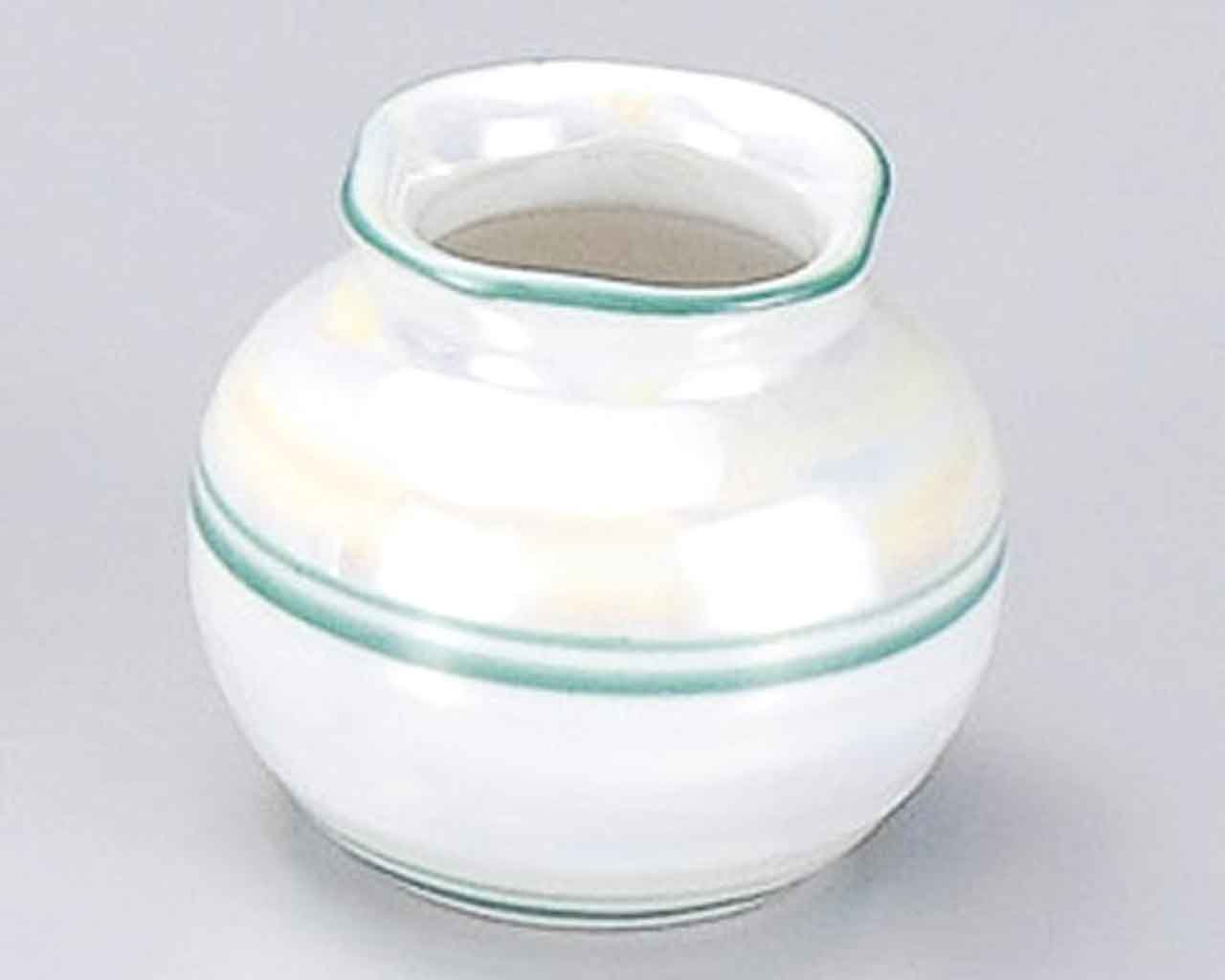 Laster Glaze 2inch Set of 5 Toothpick holders White porcelain Made in Japan by Watou.asia