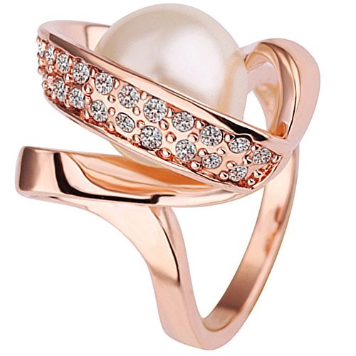 BOHG Jewelry Womens 18K Rose Gold Plated Fashion Cubic ...
