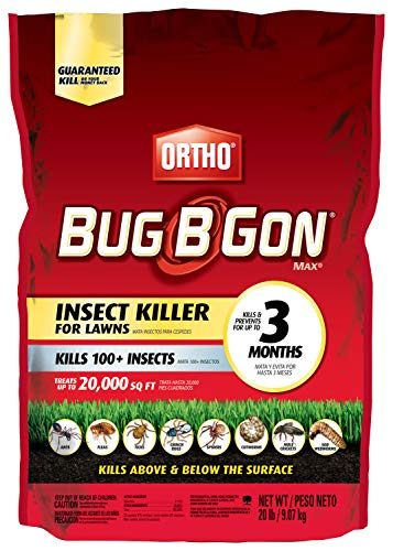 Ortho Bug B Gon Insect Killer for Lawns3, 20 lb. - Kills Ants, Fleas, Ticks, Chinch Bugs, Mole Crickets and Cutworms - Use on Lawns, Ornamentals and Home Perimeter - Treats up to 20,000 sq. ft. (Best Lawn Spreaders 2019)