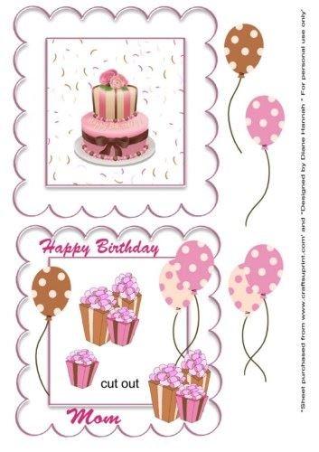 Feliz cumpleaños mamá coctelera torta por Diane Hannah ...