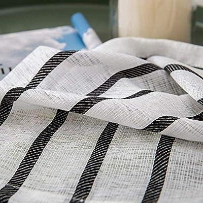 MIULEE Window Curtain Sheer Elegance Voile Grommet Window Treatment for Bedroom Living Room