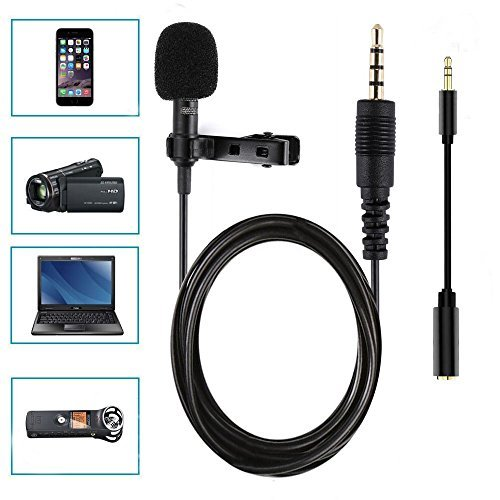 Comica CVM-WM100 UHF 48 Channels Professional Omnidirectional Wireless Lavalier Microphone System for Canon 5D II/5D III, Canon 6D, Panasonic GH5/GH4, Camcorder,Smartphone(328-foot Range) by Comica