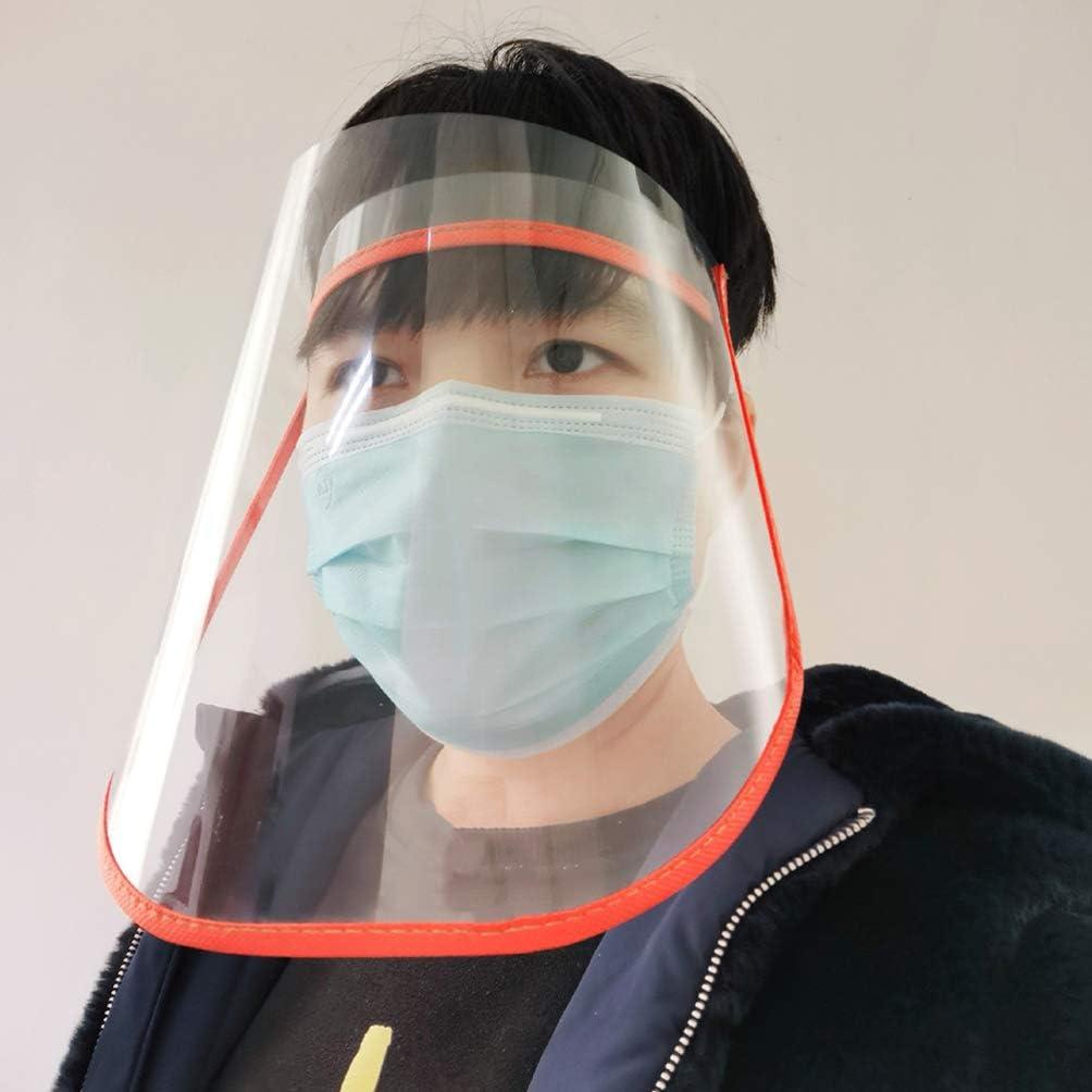 PRETYZOOM 6Pcs Sicherheitsgesichtsschutzkappen Klares Augengesichtsschutzvisier Vollgesichtsschutz /Ölbest/ändige Winddichte Gesichtsabdeckung f/ür zu Hause im Freien Zuf/ällige Farbe