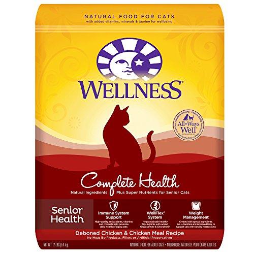 Wellness Complete Health Natural Dry Senior Cat Food, Chicken, 12-Pound Bag