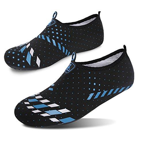 Run Surf Yoga Run para de Agua Unisex descalza Zapatos L Piel de Azul Zapatos Swim Beach Dive Negro vqf7wAg
