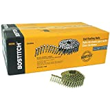 BOSTITCH CR3DGAL 1-1/4-Inch Smooth Shank 15 Inch Coil Roofing Nails, 7,200-Quantity