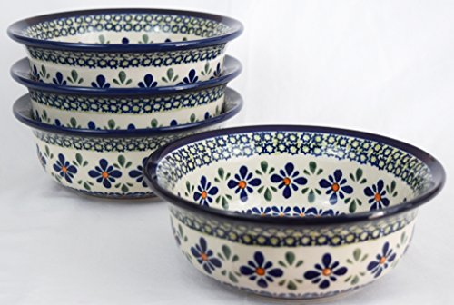 Pottery Avenue 1604/DU60 Polish Sweetie Pie Stoneware Chilly Bowl, 17 oz, Blue/Green/Orange
