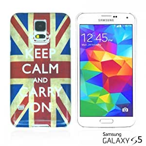 OnlineBestDigital - Designer Hard Case Cover for Samsung Galaxy S5 - Keep Calm and Carry On