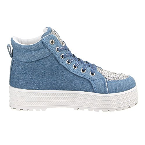 Ital-Design - zapatos de tacón Mujer Azul - azul