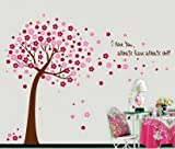 Rainbow Fox DIY tree Wall Stickers wall decal\decor wallpaper for decorating Kids Rooms,Nursery,Baby, Boys & Girls Bedroom (AY9026P)