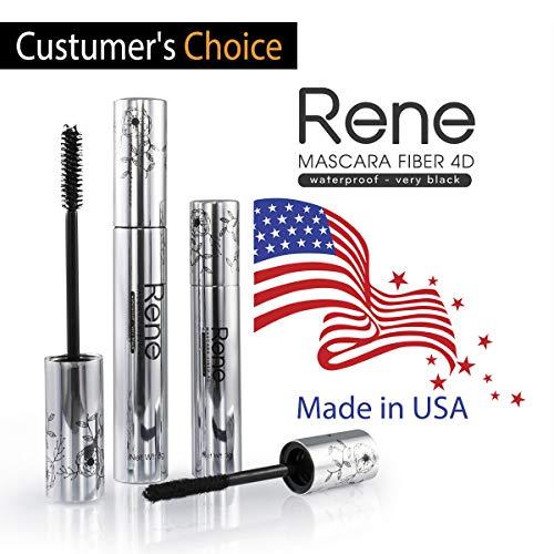 4D Silk Fiber Lash Mascara, Cold Waterproof Eyelash Extensions Mascara, Warm Water Washable, MADE IN U.S.A