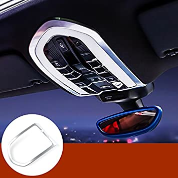 HOTRIMWORLD Silver Interior Front Roof Reading Light Trim Cover 1pcs for Porsche Macan 2014-2018