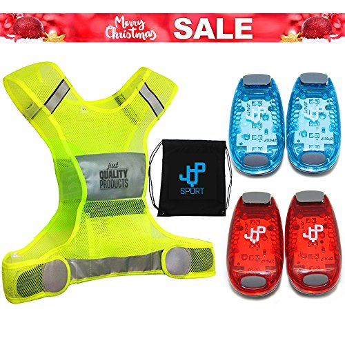 Christmas Sale! Running Vest and LED Safety Light Sets (4-Pack and 3 BONUSES),...