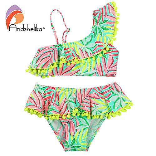 58d742daf HITSAN INCORPORATION Andzhelika Bikini Children's Swimwear Ball Cute Lotus  Leaf Dress Swimwear Two Piece Kid One