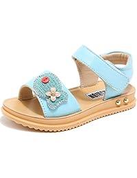 Girls Leather Strap Cute Sandals Open Toe (Toddler/Little Kid/Big Kid)