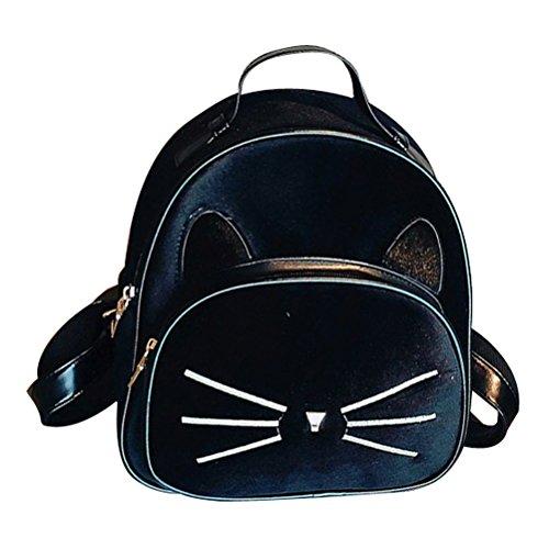 Donalworld Girl Velvet Backpack Cute Casual Zipper Solid Bags Pt8 (Satin Backpack)