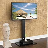"""FITUEYES Universal TV Stand Base with Swivel Mount Height Adjustable for 32"""" to 50""""TV,TT106001MB"""