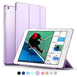 New iPad 2017 iPad 9.7 inch Case, ESR Ultra Slim Lightweight Smart Case Trifold Stand with Auto Sleep/Wake Function, Microfiber Lining, Hard Back Cover for Apple New iPad 9.7-inch,Fragrant Lavender