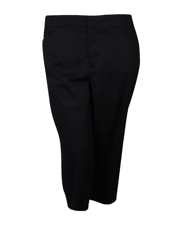 Jm Collection Plus Size Twill Capri Pants